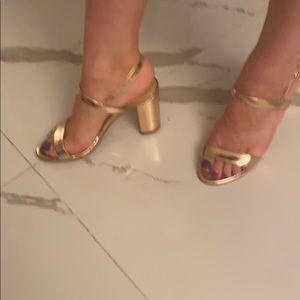 BP rose gold metallic Shoe